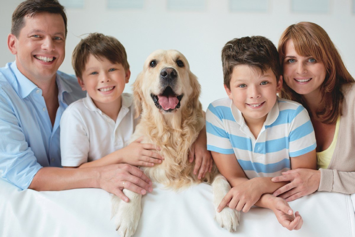 Family with a pet